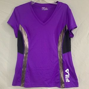 Purple FILA Sports Top With Pocket